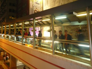 Central Mid Level Escalator