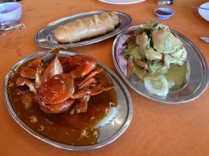 Sweet & sour crab and Fresh Milk Crab with bread