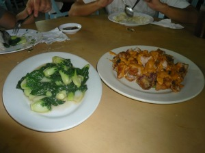 gulay and chicken chop